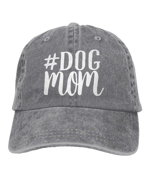 CDHLBNG Men and Women Dog Mom-1 Vintage Jeans Baseball Cap - Ash - CO189MDMHS6