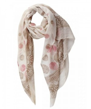 GERINLY Spring Scarves Two tone KhakiPink in Fashion Scarves