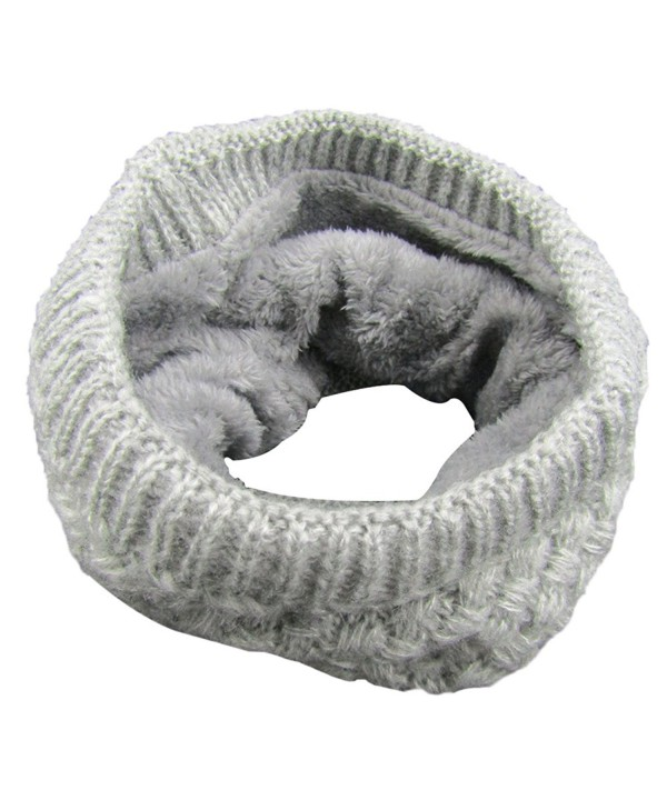 TagoWell Winter Women Infinity Scarf knit Neck Warmer Thick Circle Loop Scarves - Gray - CR187UNAAQ6
