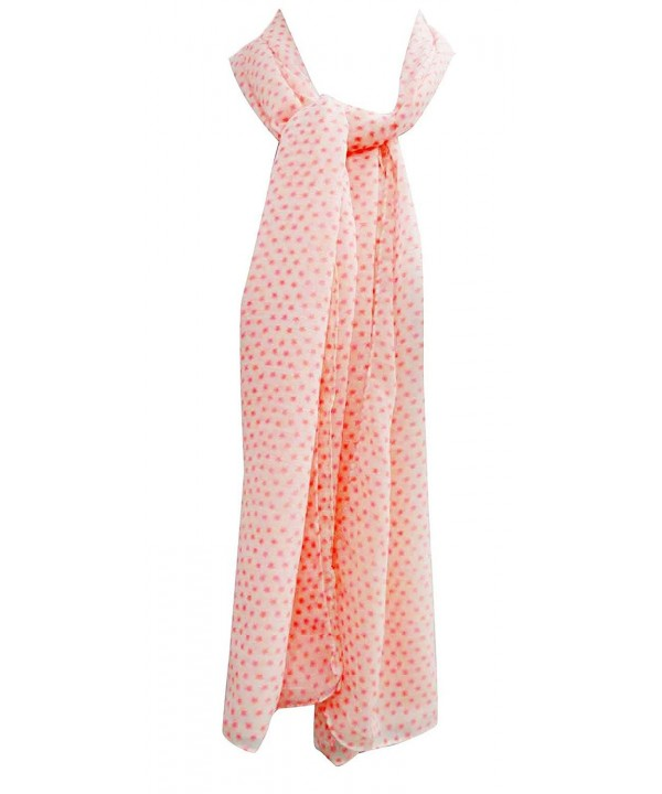 "100% Cotton Soft Scarf Stole Shoulder Women Wrap Scarves India 20"" x 70"" Inches - Salmon - C511O6MN1SD"