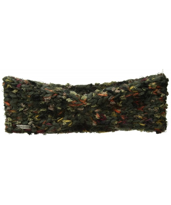 Steve Madden Women's Chunky Confetti Knit Head Band - Military - CX1829YNNGH