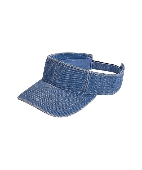 MG Unisex Pro Style Washed Denim Visor-4029 - Light Blue - CP121FJKSZN
