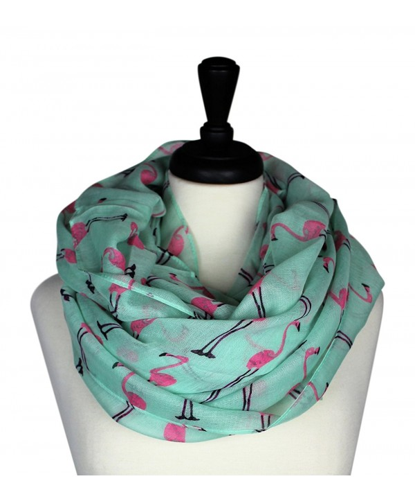 KnitPopShop Flamingo Infinity Scarf Soft (Turquoise and Pink) - CN1853KG0MI