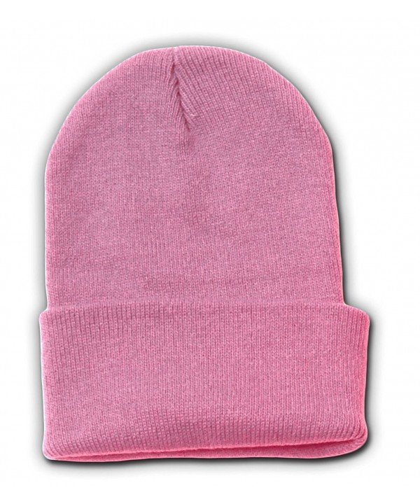 TOP HEADWEAR New Solid Winter Long Beanie - Light Pink 1pc - C4112V0EMBR