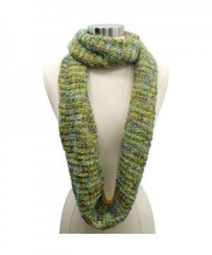 Yellow Winter Multicolor Unisex Infinity in Fashion Scarves