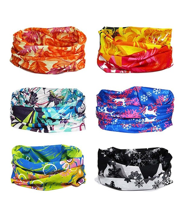 Bundle Monster 6pc Seamless Style Bandanna Headwear Scarf Wrap - Mixed Sets - Seasons - CY11OC06V5J