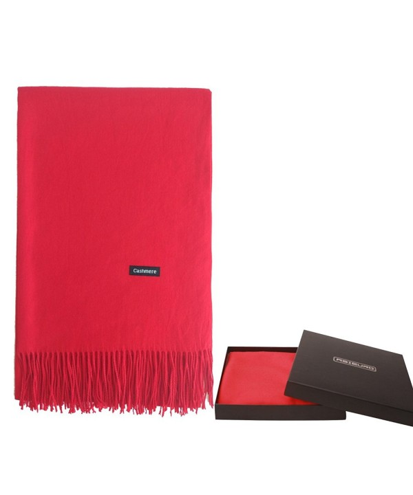 Pattern Different Material Cashmere Pashmina - Red - CQ187K0U3WY