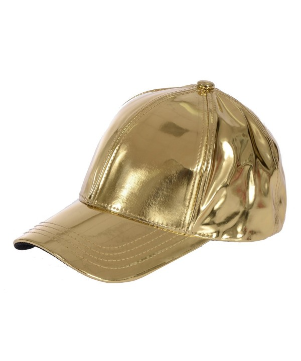 Gary Majdell Sport Unisex Metallic Baseball Cap With Adjustable Strap - Metallic Gold - CC186TGHW95