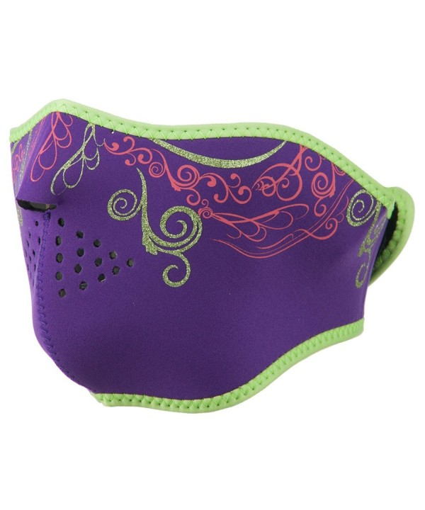Neoprene Half Face Mask - Purple Venetian - C611RNPDGUX