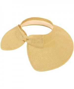 TAUT Womens Straw Visor Beige in Women's Sun Hats