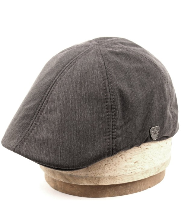 Men's 6 Panel Linen Duckbill Ivy Hat - A Gray - CJ12NV1RH06