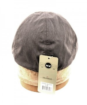 Mens Panel Linen Duckbill GRAY in Men's Newsboy Caps