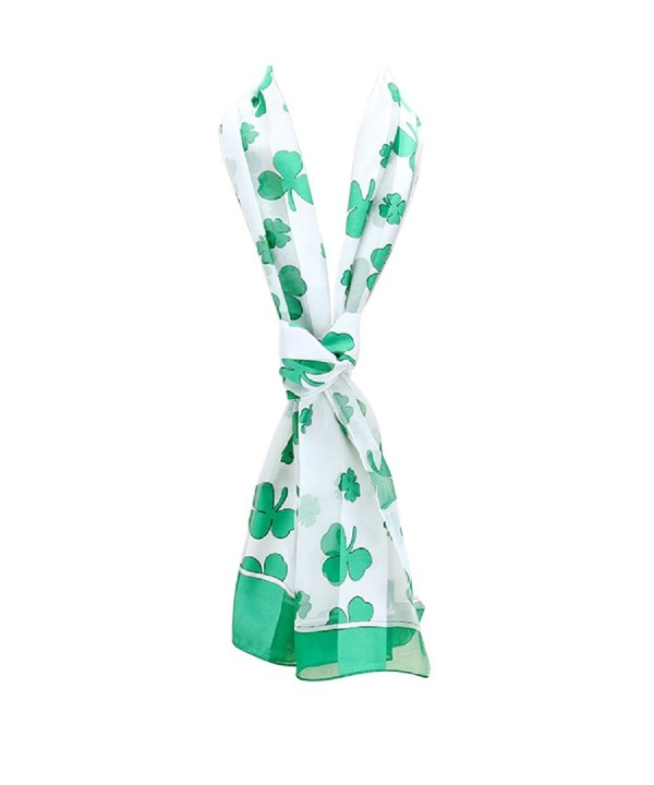 Rosemarie Collections Patricks Shamrock Clovers - White With Green Clovers - C817YI89082