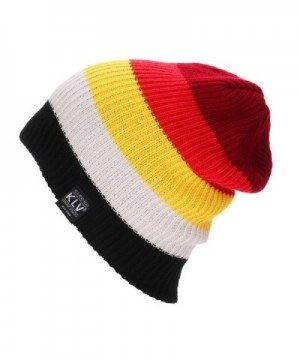 "LUNIWEI 8x13"" Unisex Knitted Woolen Baggy Beanie Winter Warm Cap Multicolor Hat - Red - CU12LAXUA73"