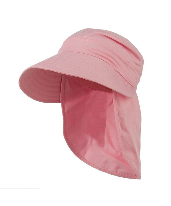 Gardening Visor Hat with Neck Cover - Pink - C511PN6U3G9