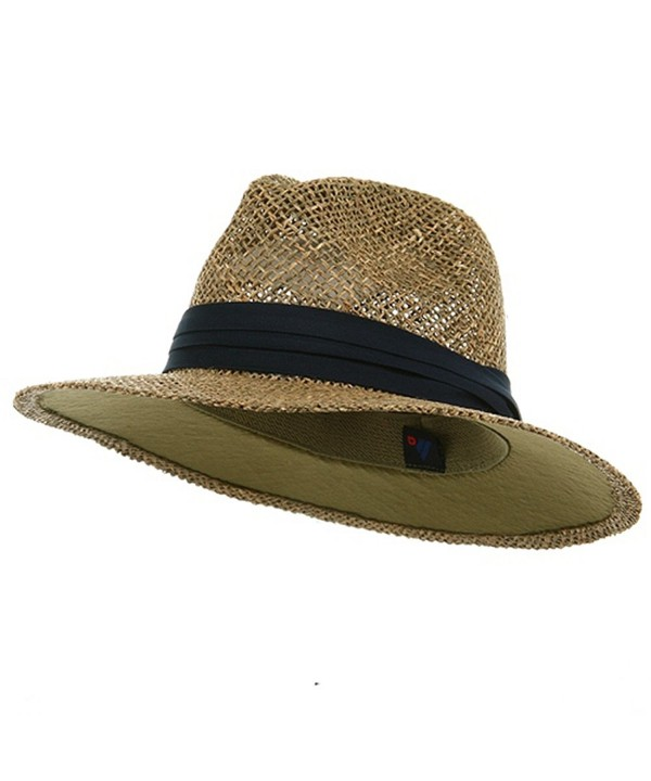 Safari Straw Hat - Navy Band - CT111GHV98P