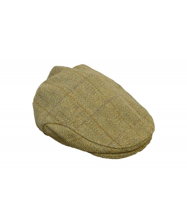 Walker and Hawkes Men's Ladies Derby Tweed Flat Cap Hunting Shooting Countrywear Hat - Light Sage - CW11NKZEKX7
