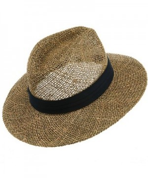 Safari Straw Hat Navy Band in Men's Cowboy Hats
