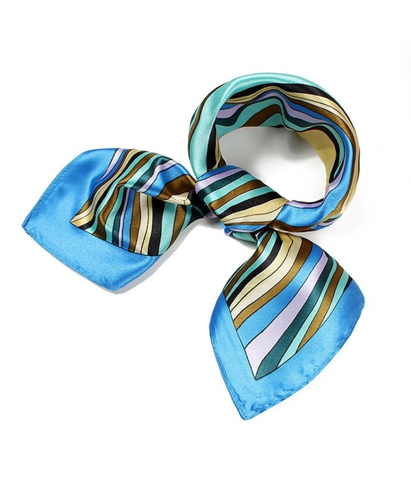 Fashion Square Scarf Soft Satin Silk Feel Hair Wrap Neckerchief Free Gift - A-3 - CS12JFZJMLP