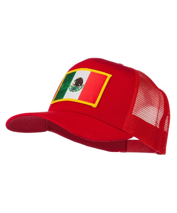 Mexico Flag Patched Mesh Cap - Red - CK11Q3T288L