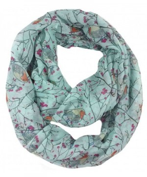 Lina Lily Womens Infinity Turquoise in Fashion Scarves