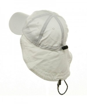 MG Microfiber Cap with Flap White