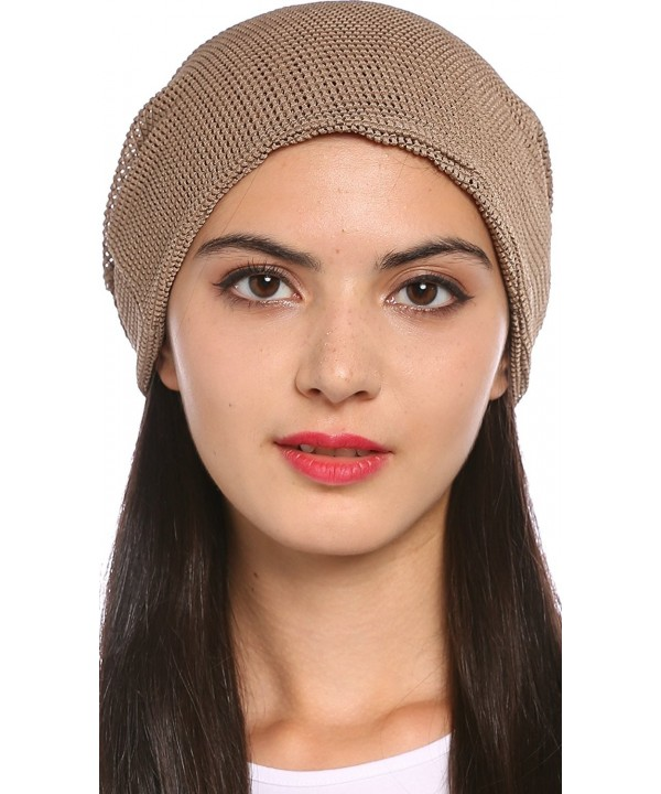 Ababalaya Women's Soft Breathable Mesh Pregnant Cap Chemo Beanie Cap nightcap - Coffee - C01820LD0R0