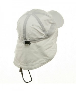 MG Microfiber Cap with Flap White in Women's Sun Hats