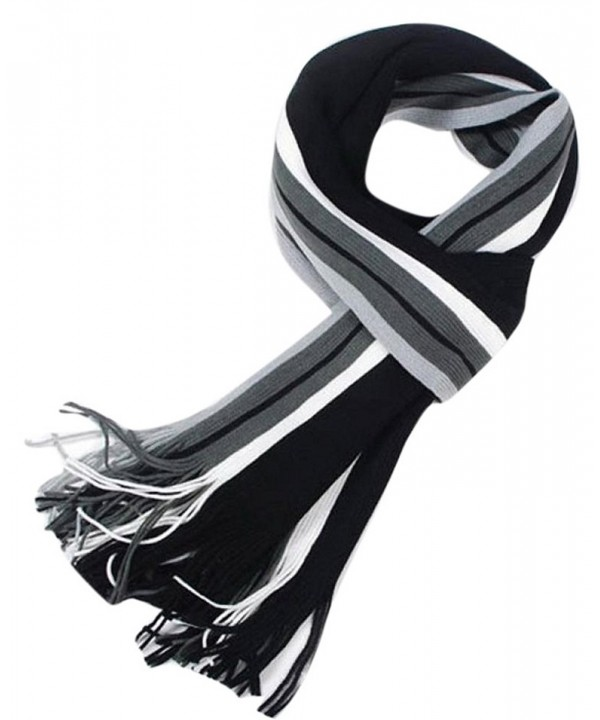 Enlishop Men Winter Warm Scarf Soft Elegant Long Fashion Wrap Scarves - Black200 - CA129WWG6TH