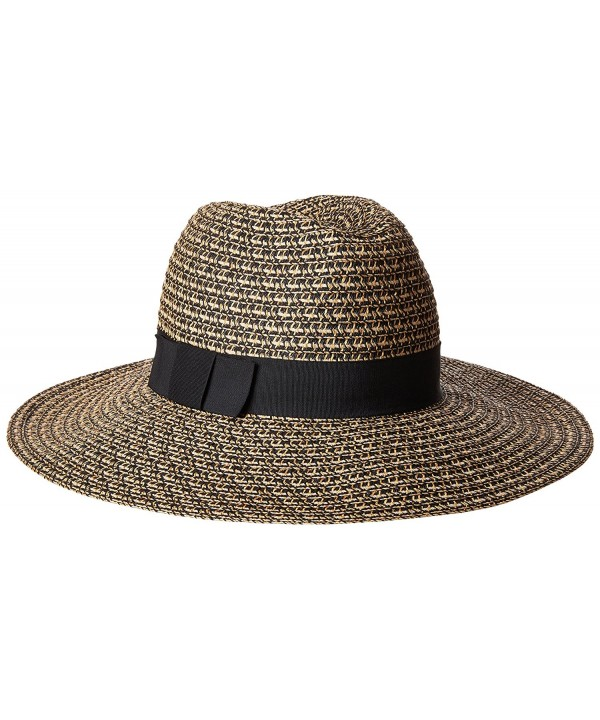 San Diego Hat Company Women's Ultrabraid Mixed Fedora Hat - Black Mix - CQ12N1ZEJDS