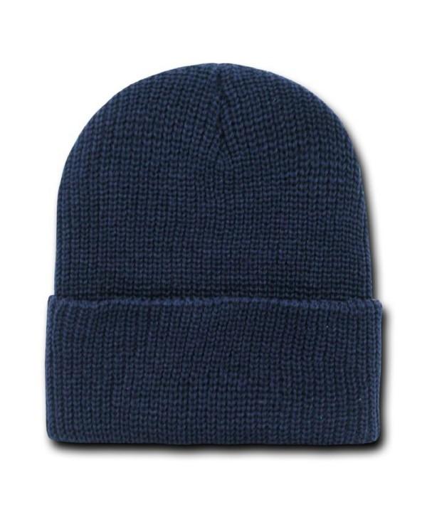 NAVY BLUE LONG WATCH CAP BEANIE SKI CAP CAPS HAT HATS CUFFED - CJ112H06Q79