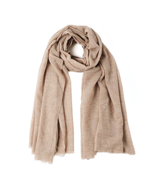CUDDLE DREAMS Lightweight Cashmere Wool Scarf Wrap for Spring- Fluffy and Soft- FINAL CLEARANCE SALE - Camel - C1187RC5QZM