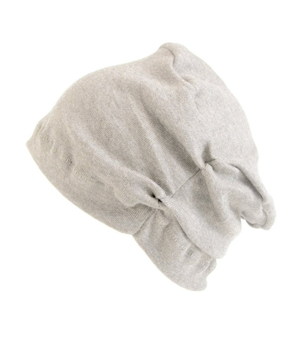CHARM Casualbox | Womens Organic Made in Japan Night Cap Sleep Beanie indoor Hat - Cream - CW117VQLKGV