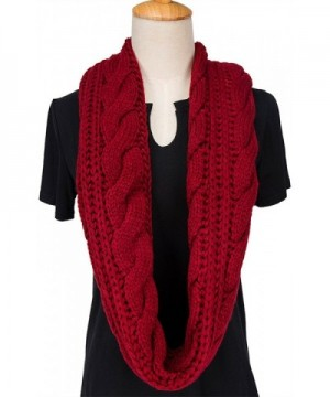 MOTINE Womens Winter Infinity Burgundy in Wraps & Pashminas