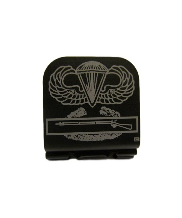 Airborne Wings & Combat Infantry Badge Laser Etched Hat Clip Black - CJ128O4F4XN