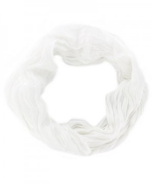Women's Fashion Accessory Infinity Cowl Wrap Scarf - White - C212NVPHY03