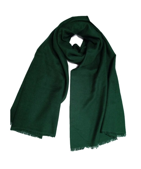 YAOYUE US Luxurious Scarves Pashmina Mulberry - Dark Green - C1188H2KN42