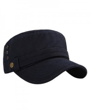 Cotton Peaked Baseball Millitary Navy Three