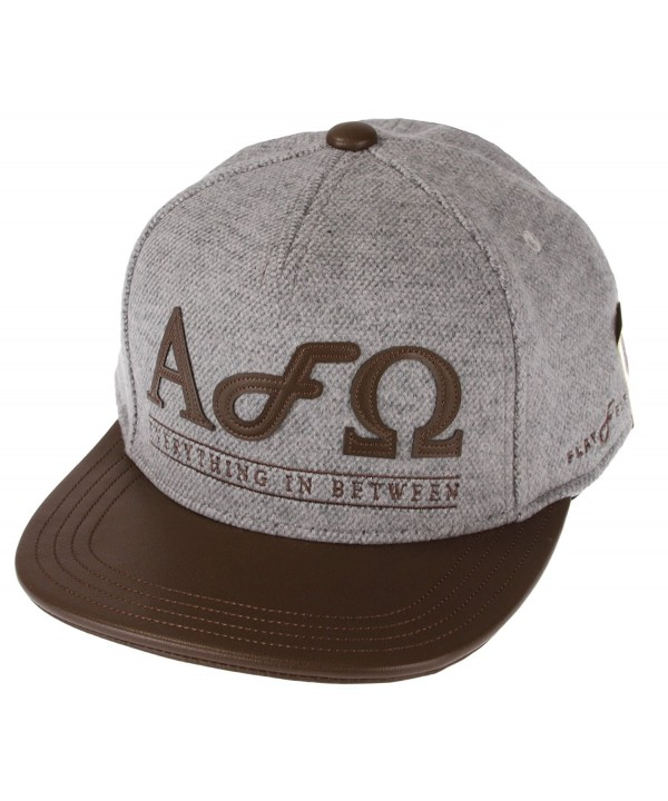 "Flat Fitty ""Alpha Omega"" Buckle Back Cap - Grey-brown - CQ11KKXB3BJ"