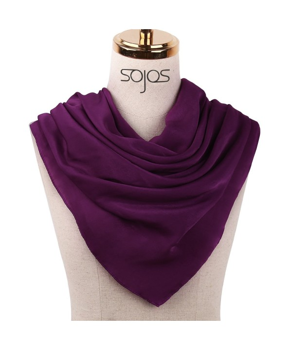 SOJOS Women's Lightweight Long Large Scarf Fashion Design with Gift Box SC307 - A3 Purple - CV1884HD4RU