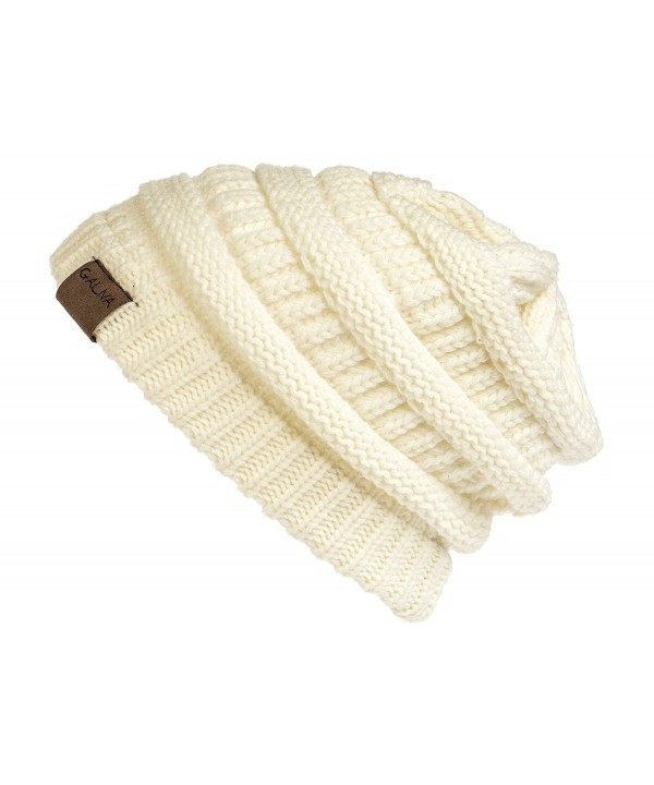 Galiva Women's Acrylic ComfWarm Winter Beanie - Off White - C212054LNCB