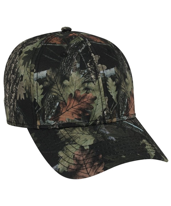 Otto Camouflage Superior Polyester Twill 6 Panel Low Profile Baseball Cap - Nature Pattern/Blk - CW17YI6QIUT