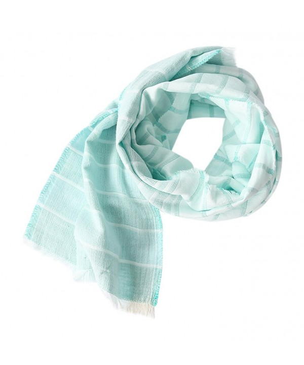 Cotton Scarf Shawl Wrap Soft Lightweight Scarves And Wraps For Men And Women. - Mint - CR12DTC61Q9
