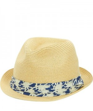 San Diego Hat Kids Fedora with Palm Tree Band - Natural - CU11S3X03F5