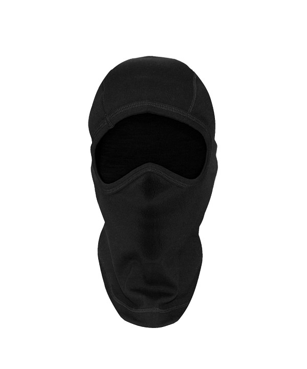 Woolx Merino Wool Balaclava - Extra Warm- Heavyweight Full Face Mask for Men & Women - Unisex - Black - CJ11HDDOJND