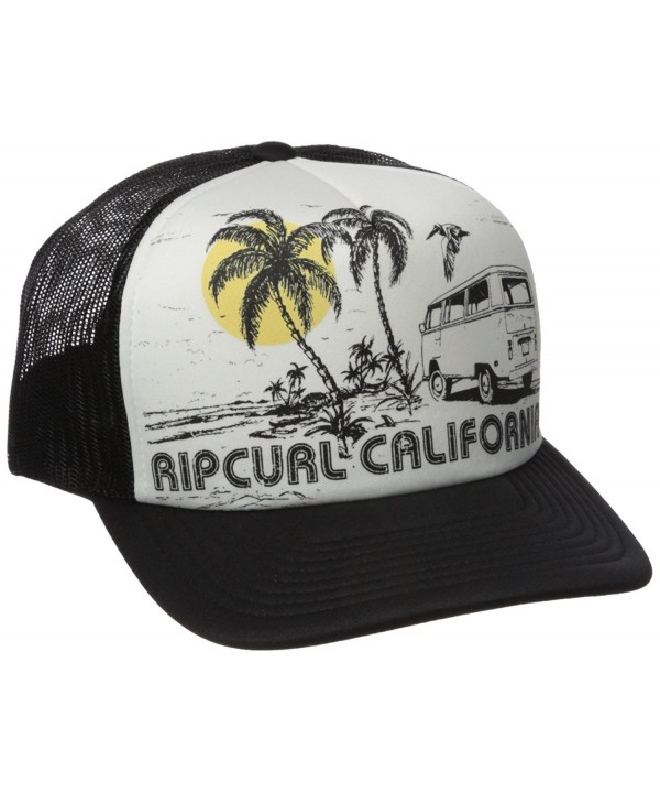 Rip Curl Junior's Saturday Trucker Hat - Black/Black/Black - C812JIM3BIF