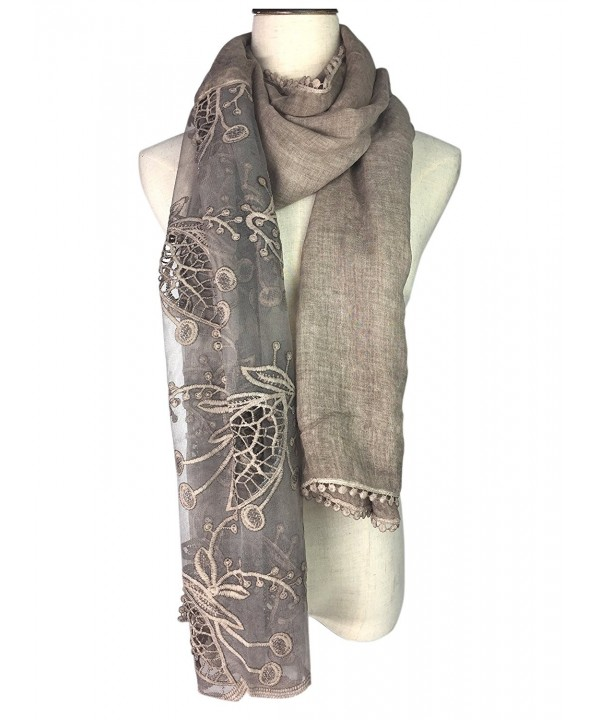 YOUR SMILE Women Lace Stylish Warm Blanket Scarf Gorgeous Wrap Shawl - Khaki - CG186HWWGYS