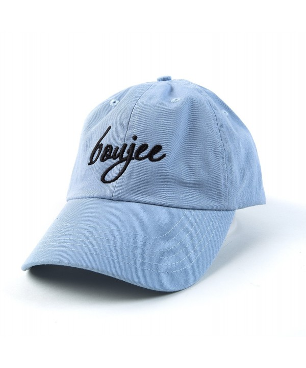 Beanie Bliss Boujee Baseball Cap Boujee Hat Adjustable Embroidered Cap Baby Blue - C117YD5LKT7