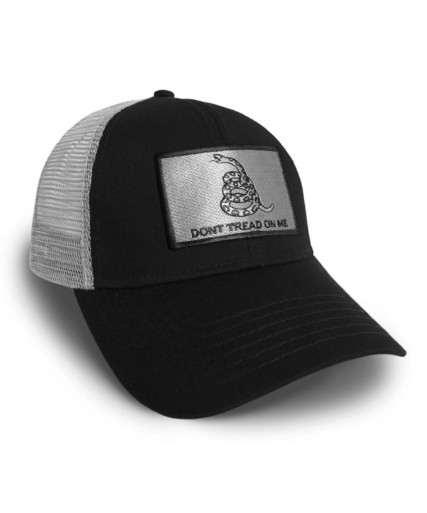 Don't Tread On Me America U.S.A. Flag Black and Grey Baseball Cap Hat Snapback - CY183D200WK