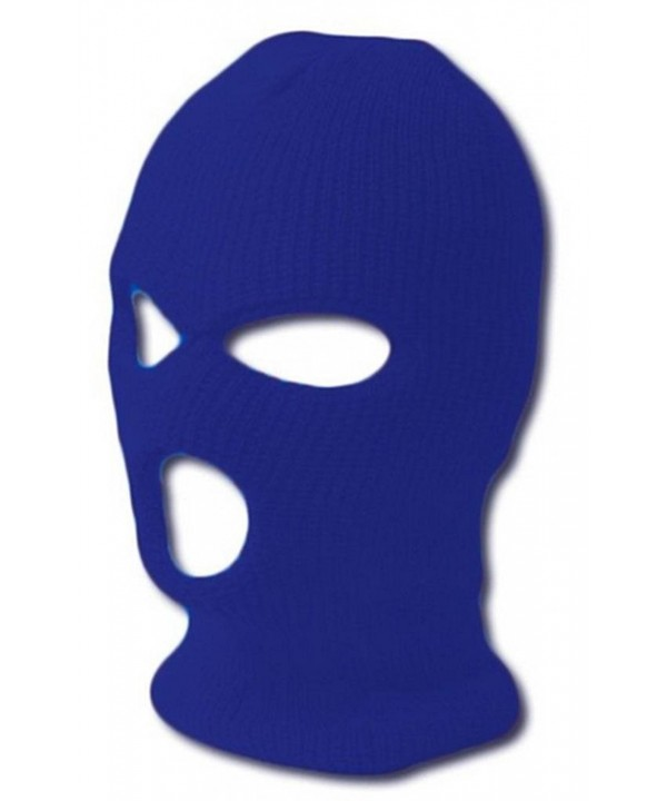 TopHeadwear GI Waffle Ribbed Ski Mask - Royal Blue (2 Different Styles) - 3 Hole - CK113KQV01B